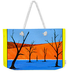 Weekender Tote Bag featuring the painting Namibia Desert Duns by Ken Frischkorn