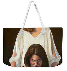 Weekender Tote Bag featuring the painting Nancy And Abby by Donelli  DiMaria