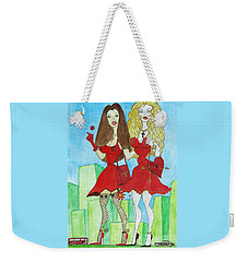 Nancy And Nicole Going Out At Night Weekender Tote Bag by Don Pedro De Gracia