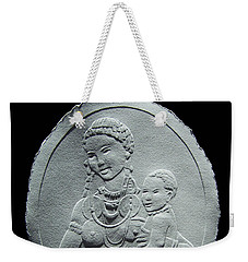 Nandi Tribe Woman And Child Weekender Tote Bag by Suhas Tavkar