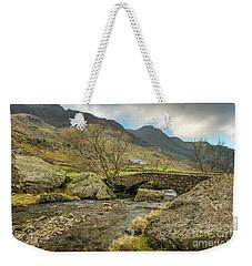 Weekender Tote Bag featuring the photograph Nant Peris Bridge by Adrian Evans