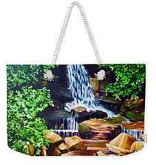 Nantahala Waterfall Weekender Tote Bag