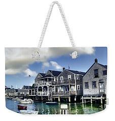 Nantucket Harbor In Summer Weekender Tote Bag
