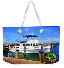 Nantucket Harbor Safe Harnor Series 52 Painted Weekender Tote Bag