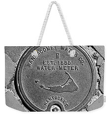 Nantucket Water Meter Cover Weekender Tote Bag