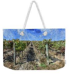 Napa Valley Vineyard - Rows Of Grapes Weekender Tote Bag