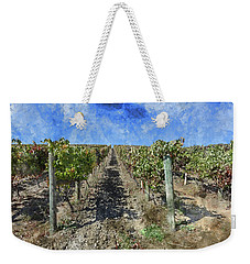 Napa Valley Vineyard - Rows Of Grapes Weekender Tote Bag
