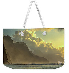Napali Coast Kauai Hawaii Dramatic Sunset Weekender Tote Bag