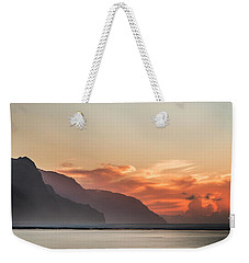Napali Coast Kauai Hawaii Panoramic Sunset Weekender Tote Bag