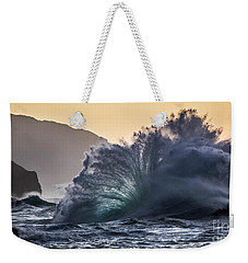 Napali Coast Kauai Wave Explosion Hawaii Weekender Tote Bag