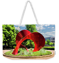 Weekender Tote Bag featuring the painting Naperville Landforms Sculpture by Christopher Arndt