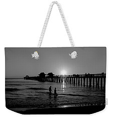 Naples Florida Pier Sunset Weekender Tote Bag