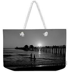 Naples Florida Pier Sunset Weekender Tote Bag