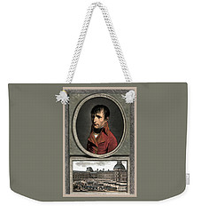 Weekender Tote Bag featuring the painting Napoleon Bonaparte And Troop Review by War Is Hell Store