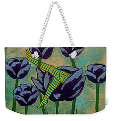 Fairy Napping In The Purple Tulips Weekender Tote Bag