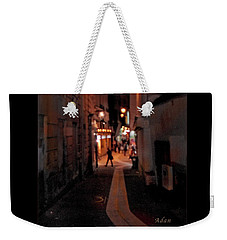 Narrow Red Street, Paris Weekender Tote Bag by Felipe Adan Lerma