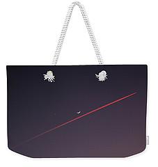Narrowly Missed The Moon Weekender Tote Bag