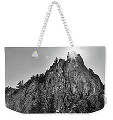 Weekender Tote Bag featuring the photograph Narrows Pinnacle Boulder Canyon by James BO Insogna