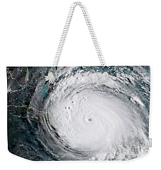 Weekender Tote Bag featuring the photograph Nasa Hurricane Irma Satellite Image by Rose Santuci-Sofranko