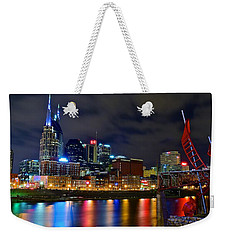 Nashville After Dark Weekender Tote Bag by Frozen in Time Fine Art Photography
