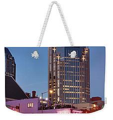 Weekender Tote Bag featuring the photograph Nashville - Batman Building by Brian Jannsen