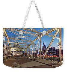 Weekender Tote Bag featuring the photograph Nashville Bridge by Brian Jannsen