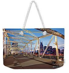 Weekender Tote Bag featuring the photograph Nashville Bridge II by Brian Jannsen