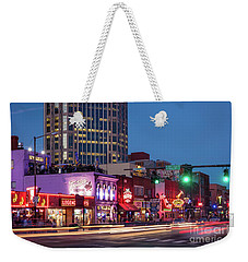 Weekender Tote Bag featuring the photograph Nashville - Broadway Street by Brian Jannsen