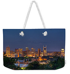 Nashville By Night 2 Weekender Tote Bag