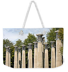 Weekender Tote Bag featuring the photograph Nashville Carillon Bells by Kristin Elmquist