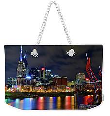 Nashville Cumberland Riverfront Weekender Tote Bag