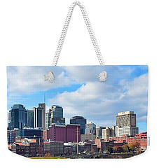 Nashville Panorama View Weekender Tote Bag by Frozen in Time Fine Art Photography