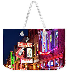 Weekender Tote Bag featuring the photograph Nashville Signs by Brian Jannsen