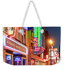 Weekender Tote Bag featuring the photograph Nashville Signs II by Brian Jannsen