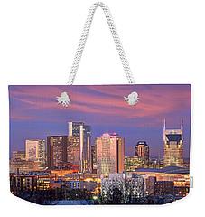 Nashville Skyline At Dusk 2018 Panorama Color Weekender Tote Bag