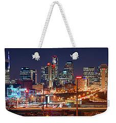Nashville Skyline At Night 2018 Panorama Color Weekender Tote Bag