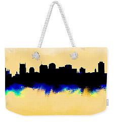 Nashville  Skyline  Weekender Tote Bag by Enki Art