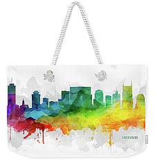 Nashville Skyline Mmr-ustnna05 Weekender Tote Bag by Aged Pixel