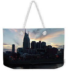 Nashville Sunset Weekender Tote Bag by Nick Kirby