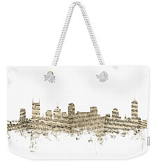 Nashville Tennessee Skyline Sheet Music Weekender Tote Bag