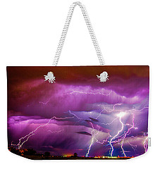 Nasty But Awesome Late Night Lightning 008 Weekender Tote Bag