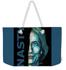 Nasty - Hillary Clinton Weekender Tote Bag by Konni Jensen