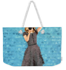 Weekender Tote Bag featuring the digital art Natalie by Nancy Levan