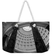 National Gallery Of Art Rotunda In Black And White Weekender Tote Bag