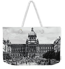 Weekender Tote Bag featuring the photograph National Museum At Wenceslas Square. Prague by Jenny Rainbow