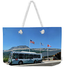 Weekender Tote Bag featuring the photograph National Parks. St. Mary Visitor Center At Glacier by Ausra Huntington nee Paulauskaite