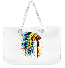 Native American Feather Headdress   Weekender Tote Bag by Marian Voicu