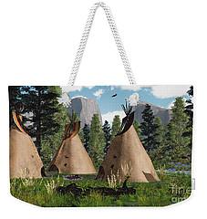 Native American Mountain Tepees Weekender Tote Bag
