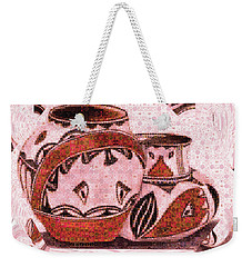 Native American Pottery Mosaic Weekender Tote Bag by Paula Ayers