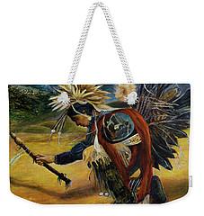 Native American Rain Dance Weekender Tote Bag